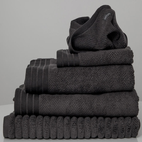 Charcoal Jacquard Bath Towel