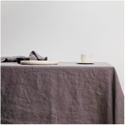 Small Table Cloth in Charcoal Grey