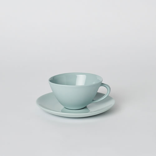 Tea Cup and Saucer in Blue