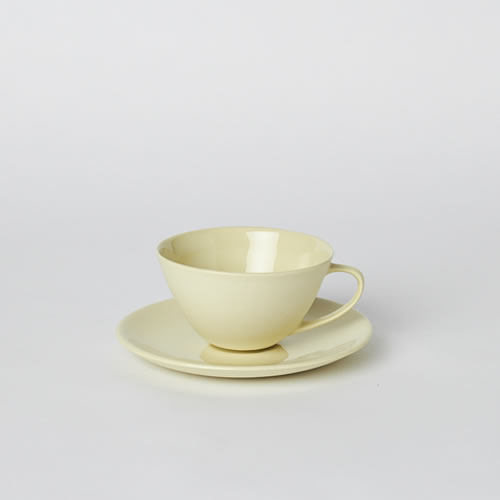 Tea Cup and Saucer in Citrus