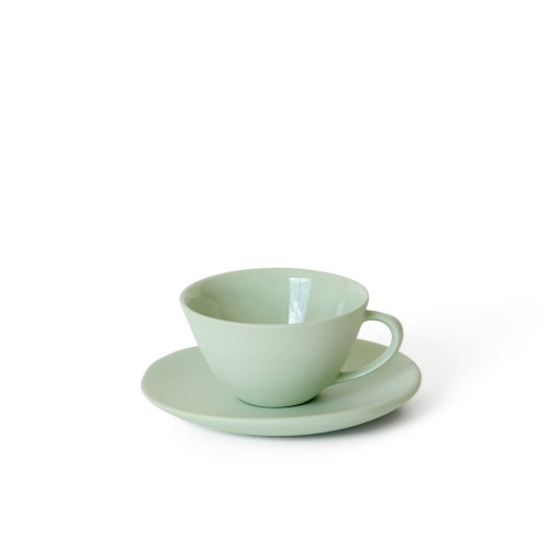Tea Cup and Saucer in Pistachio