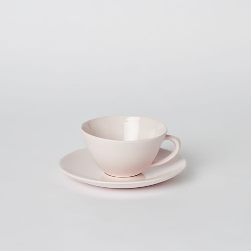 Tea Cup and Saucer in Pink