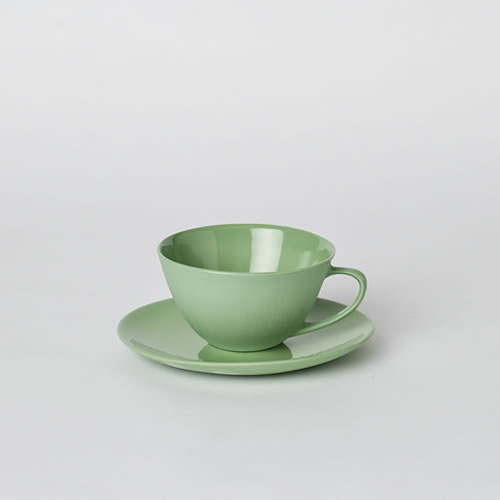 Tea Cup and Saucer in Wasabi