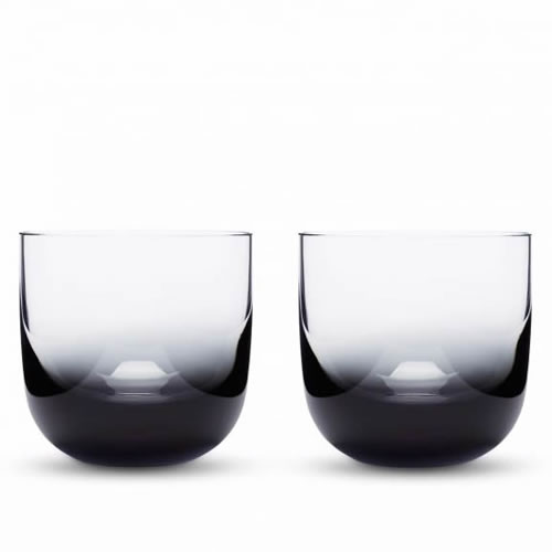 Tank Whiskey Glasses Black Pair