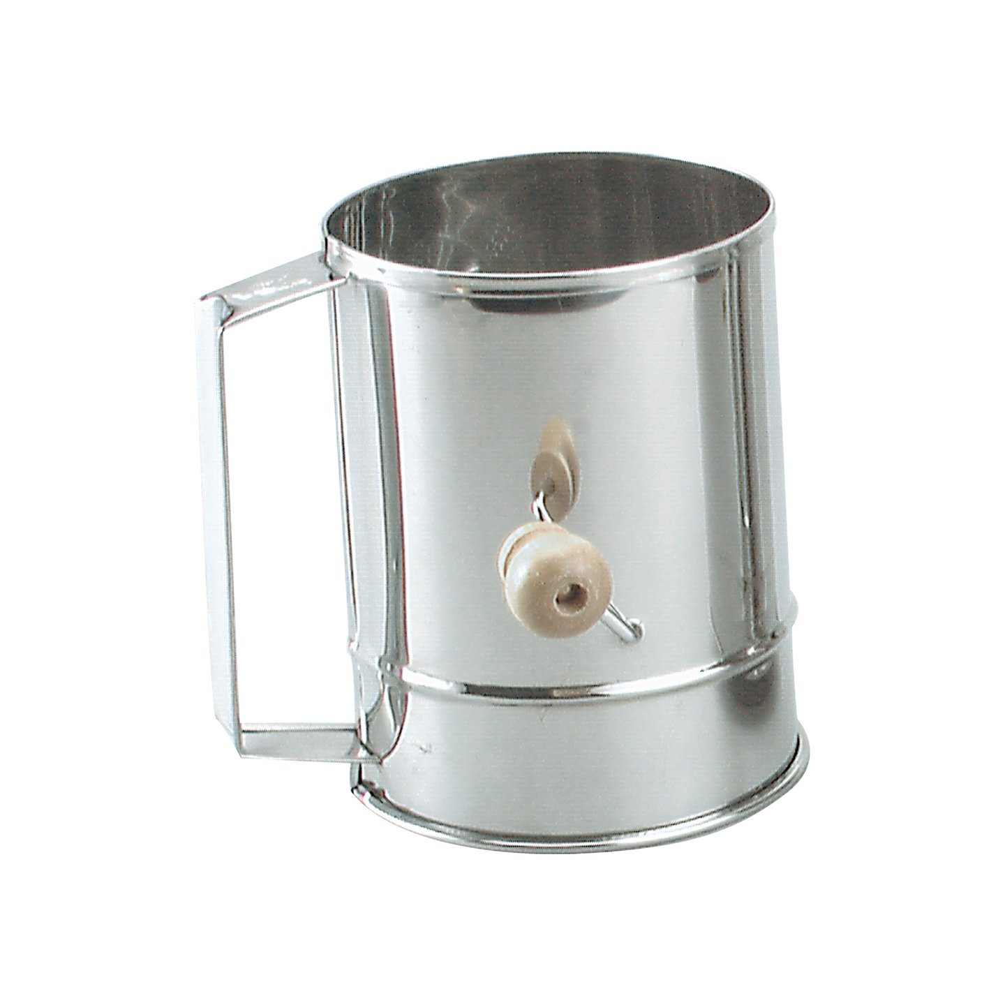 Stainless Steel Crank Sifter 5 Cup