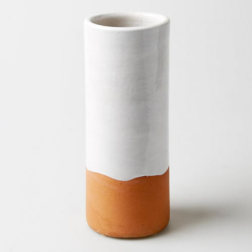 Essentials Tube White Vase