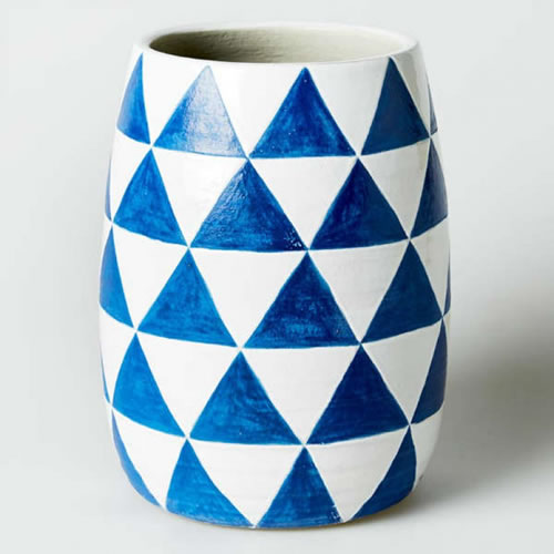 Linear Triangle Vase
