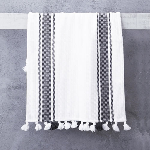 Truva Bathmat With with Grey Stripes