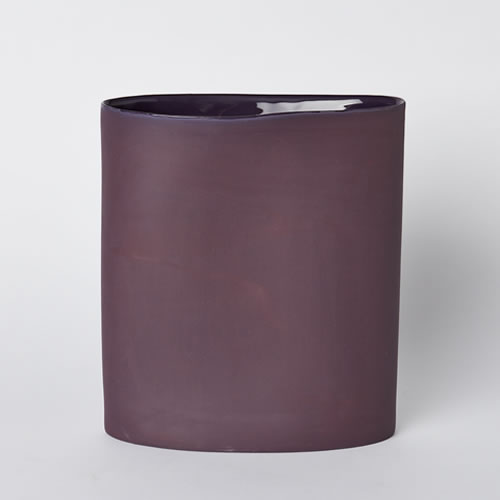 Vase Oval Large in Plum