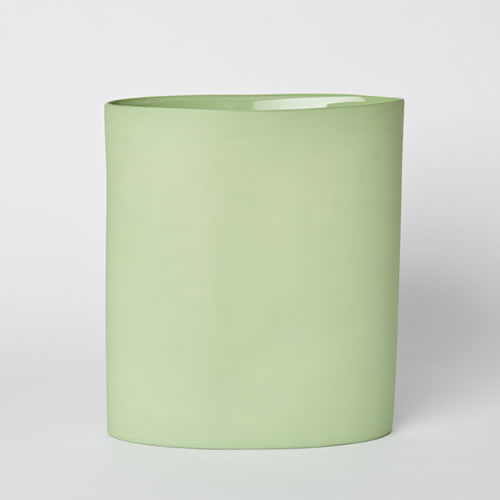 Vase Oval Large in Wasabi