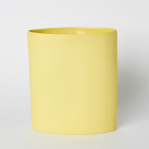Vase Oval Large in Yellow