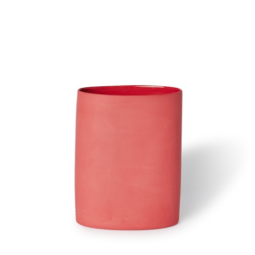 Vase Oval Medium Red