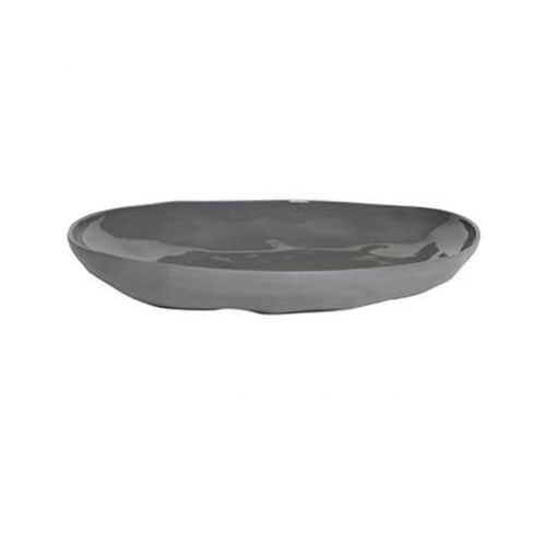Flax Platter in Charcoal