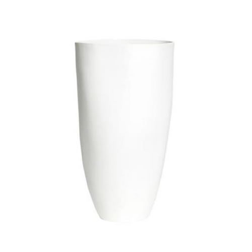 Flax Tall Vase 27cm Snow White