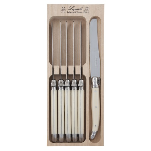 Debutant Six Piece Ivory Finish Table Knives