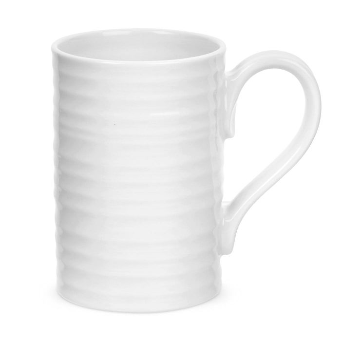 White Tall Mugs