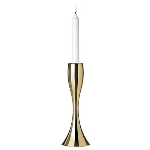 Reflection Candleholder 17 cm in Brass