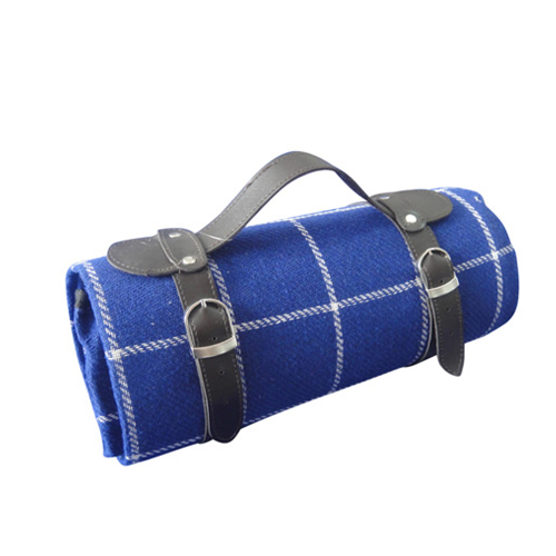 Picnic Blanket in Blue and White Stripes