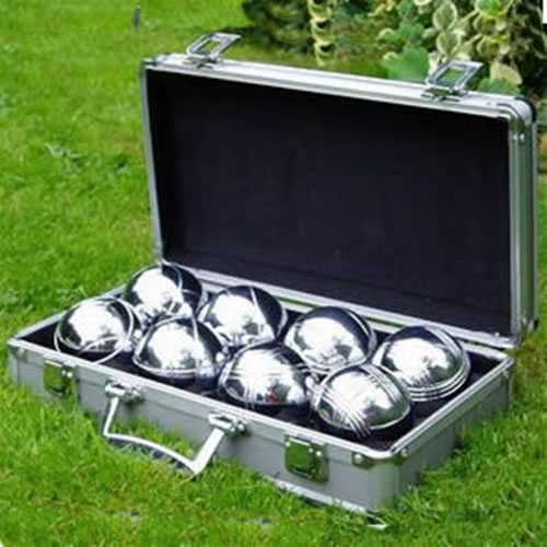 Boules Set in Metal Presentation Case