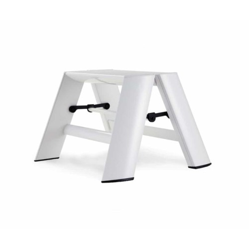 Incredible One Step White Ladder By Lucano Cjindustries Chair Design For Home Cjindustriesco