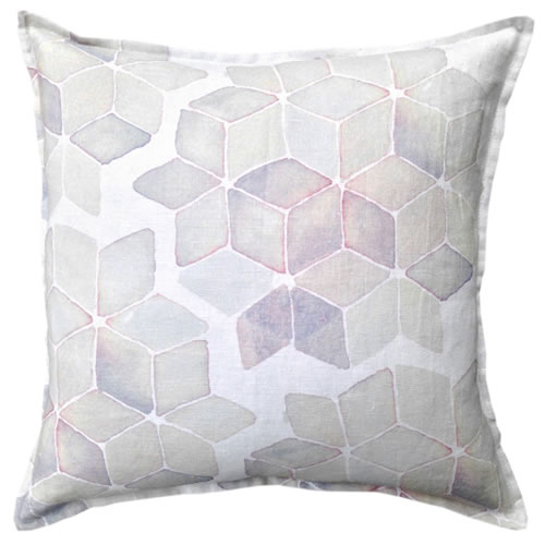 Blush Geo Linen Cushion 50x50cm