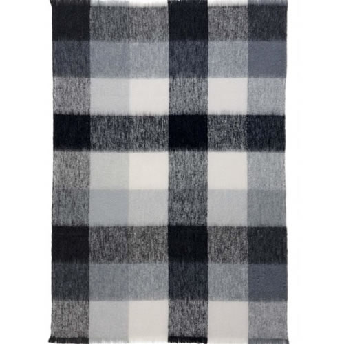 Alpaca Checkers Throw Rug 122 x 183cm