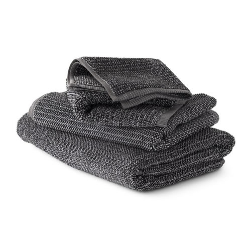 Coal Tweed Face Towel