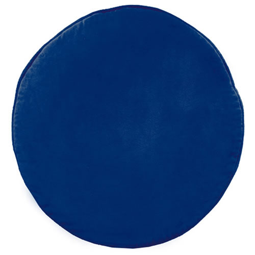 Navy Velvet Penny Round Cushion