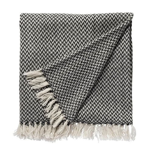 Copenhagen Cashmere Throw in Charcoal