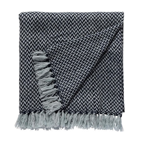 Copenhagen Cashmere Throw in Navy
