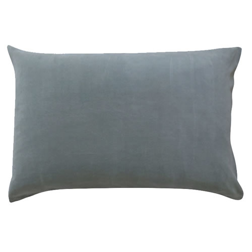 Grey Velvet Pillowcase Single