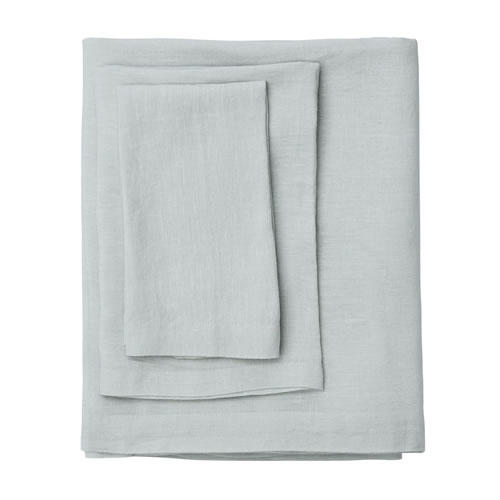 Moss Ash Linen Table Cloth Extra Large