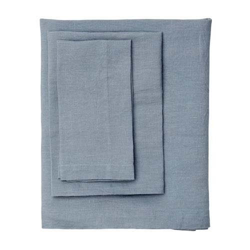 Moss Cornflower Linen Table Cloth Grand
