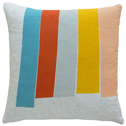 Orange Big Top Linen Cushion Cover