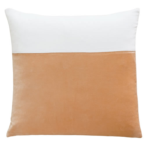 Peach Swatch Velvet Cushion