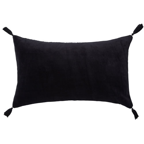 Velvet Petite Black Cushion