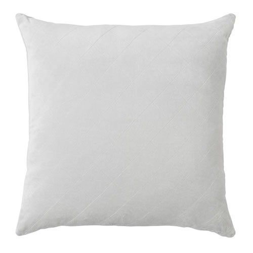 Velvet Quilted Cushion Silver