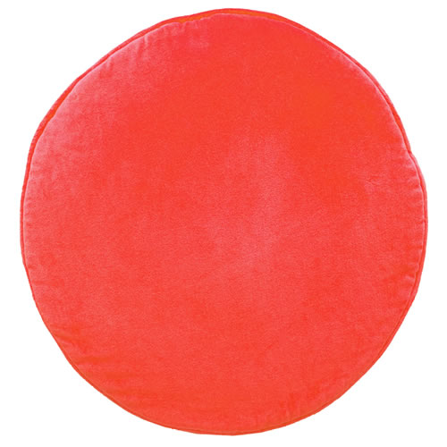 Watermelon Velvet Penny Round Cushion